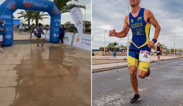 The triathlonist who celebrated before crossing the finish line and was overtaken by a rival