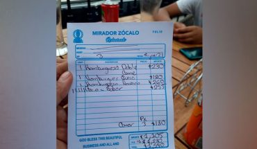 They denounce in networks excessive charges in restaurant of the CDMX