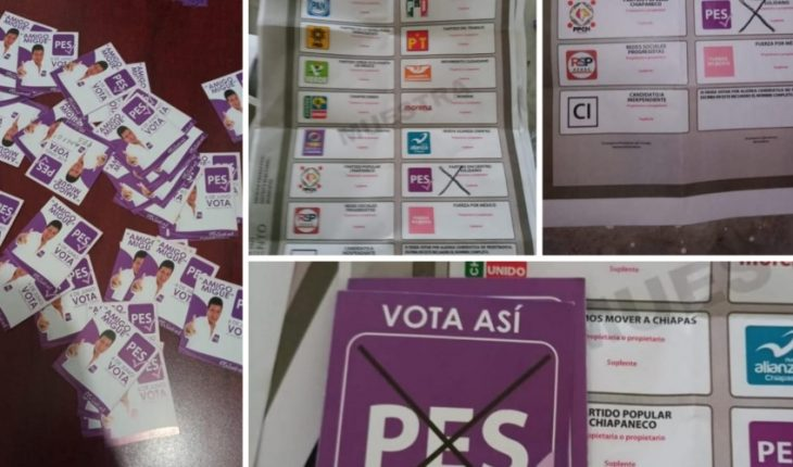 Three people arrested carrying fake ballots in Chiapas