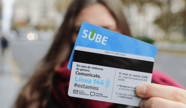 Transport and Gender launched the new SUBE card with information on Line 144