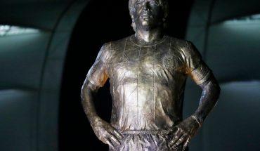 With Lionel Messi, the statue of Diego Maradona was revealed in Santiago del Estero