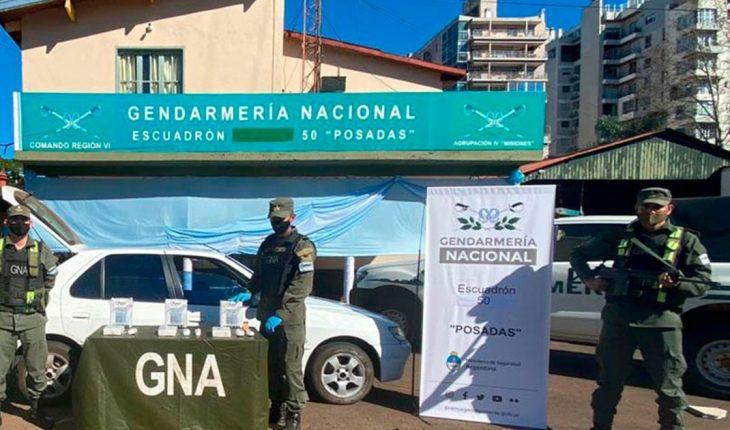 Gendarmería secuestró más de 15 kilos de cocaína