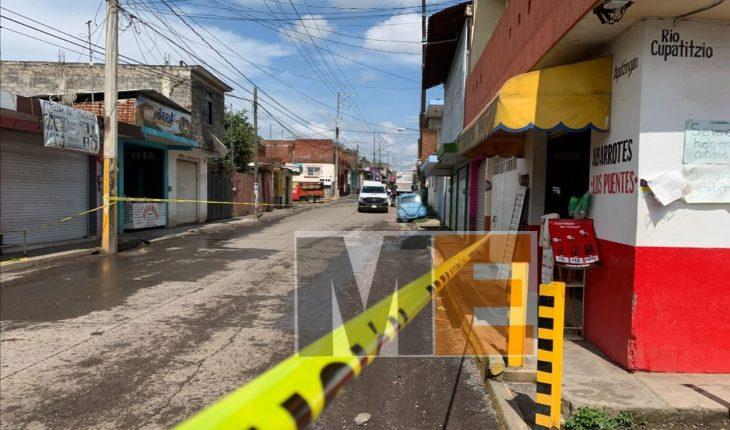 Motociclista es ultimado a tiros en Uruapan