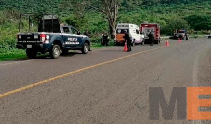 Motociclista muere al derrapar su unidad en la Jacona