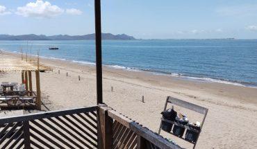 Playa El Maviri, Ahome, desolada por pandemia de Covid-19