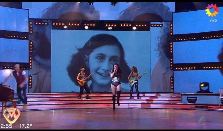 Showmatch: usaron a Ana Frank para graficar un tema de Paulina Rubio y lo repudiaron
