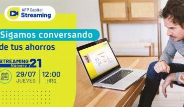 """Streaming Nº21 de AFP Capital: """"Sigamos conversado de tus ahorros"""""""