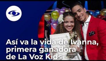Así recuerda Ivanna, primera ganadora de La Voz Kids, su paso por el reality - Caracol TV