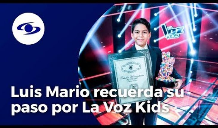 Luis Mario, ganador de La Voz Kids 2015, recuerda su paso por el reality - Caracol TV