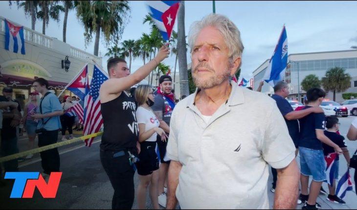 Venezolanos se unen al octavo día de manifestación del exilio cubano de Miami