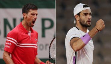 Wimbledon: Djokovic y Berrettini jugarán por el título
