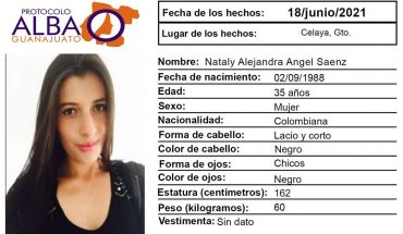 Nataly Alejandra left Colombia for work and disappeared in Celaya