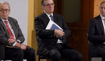 Ssa promotes the use of covers with photo of Alcocer, López-Gatell and Ebrard without it