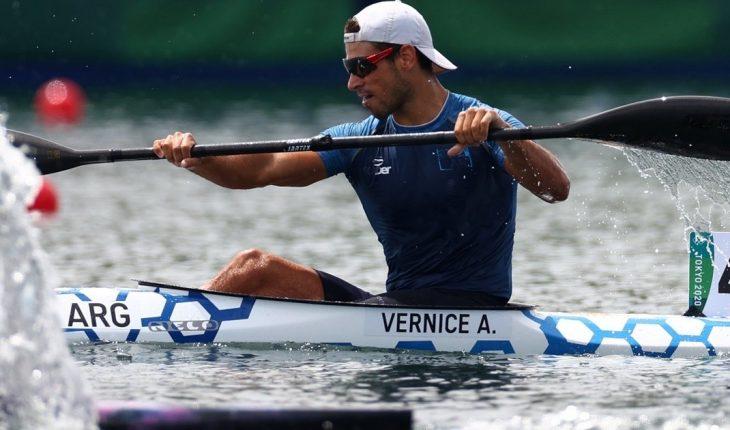Agustín Vernice tuvo un gran debut olímpico y finalizó 8° en K1 1000