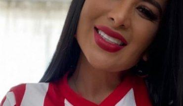 Marzhe Ponce siempre con el corazón rojiblanco apoyando a Chivas