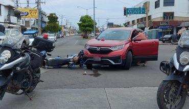 Niña y joven en moto resultan heridos tras choque en Mazatlán