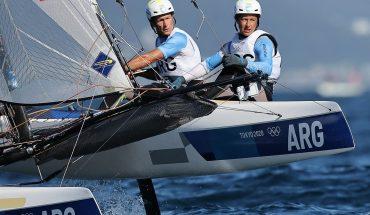 Santiago Lange y Cecilia Carranza Saroli cerraron los Juegos Olímpicos con un triunfo en la Medal Race