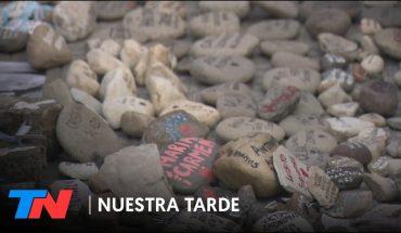 La marcha de las piedras por las víctimas del Covid-19 en la Argentina