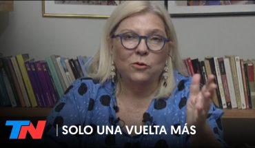 """""""SI VOTAMOS A CHANTAS, ¿QUÉ QUIEREN QUE TENGAMOS, ESTADISTAS?""""   Elisa Carrió en SOLO UNA VUELTA MÁS"""