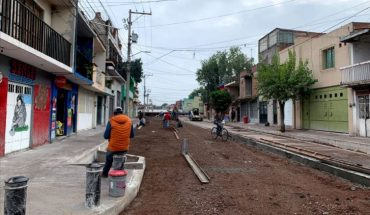 Government of Morelia reports progress of 65 percent in construction of Ocampo Street
