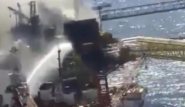 Video. Thus they put out the fire in Pemex's Ku-Alfa platform