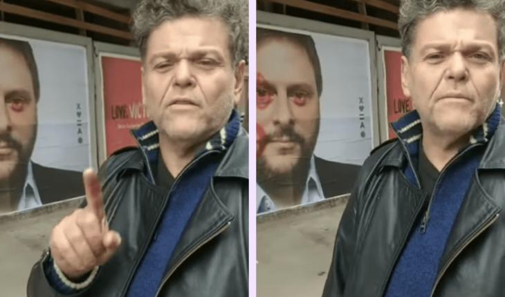 Alfredo Casero vandalizó un cartel de Leandro Santoro ¿Qué dijo Nazareno, su hijo?