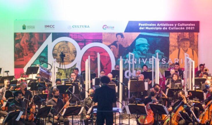 Concluyen festejos a Culiacán con un concierto en vivo de la Ossla