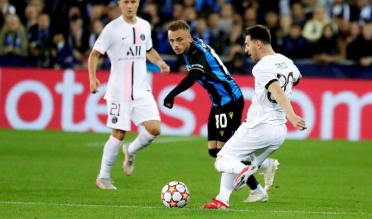 El PSG de Neymar, Messi y Mbappe empató 1-1 con el Brujas en su debut en Champions