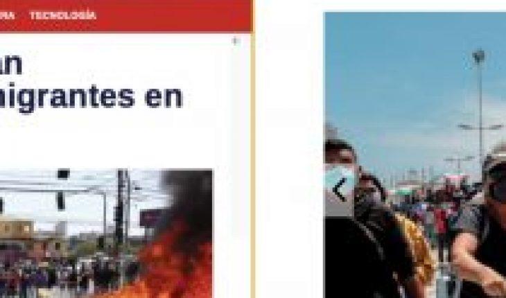«Estalla intolerancia en Chile»: prensa internacional aborda quema a pertenencias de migrantes en Iquique