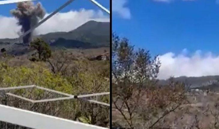 """""""Hay tiempo de comer""""; la disparata respuesta de un hombre al erupcionar volcán"""