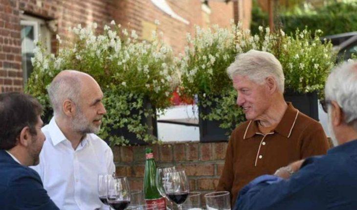 Horacio Rodríguez Larreta almorzó con Bill Clinton en Nueva York