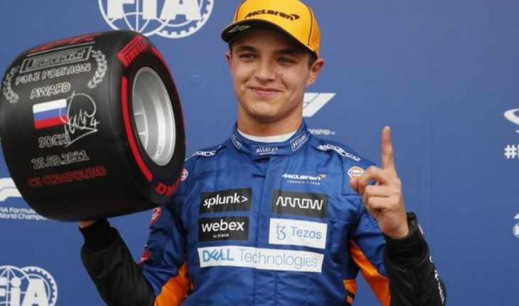 Lando Norris obtuvo su primera pole position en la Fórmula 1 en el GP de Rusia