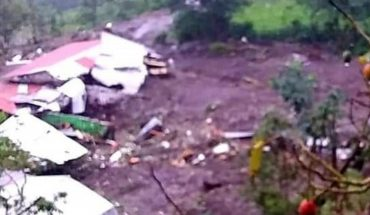 Reportan deslizamiento de tierra en una comunidad de Chiapas