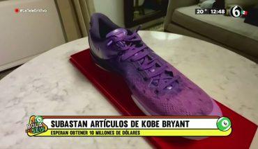 Subastan artículos de Kobe Bryant en 10 MDD  La Bola del 6