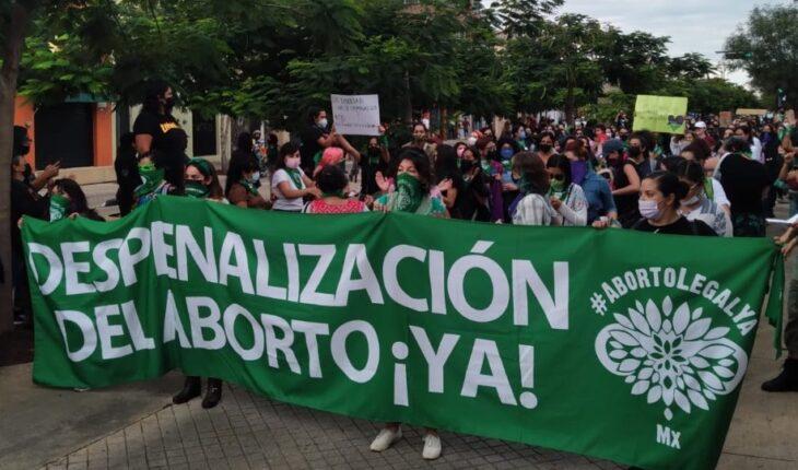 así fue la marcha por el aborto en Jalisco