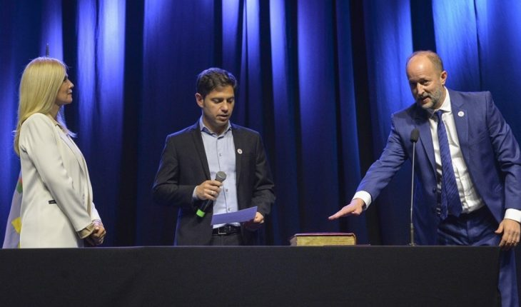 A day after Fernandez, Kicillof took the oath of office to his new cabinet.