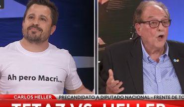 """Ah, but Macri"": the shirt with which Martín Tetaz chicaneó Carlos Heller"