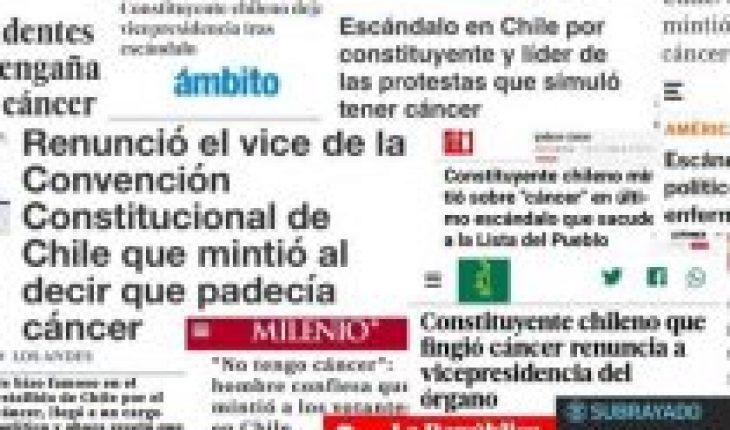 International media echo the false cancer of the conventional Rodrigo Rojas Vade
