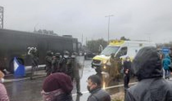 Protest on Route 5 South: protester accuses eye injury for acting of Carabineros