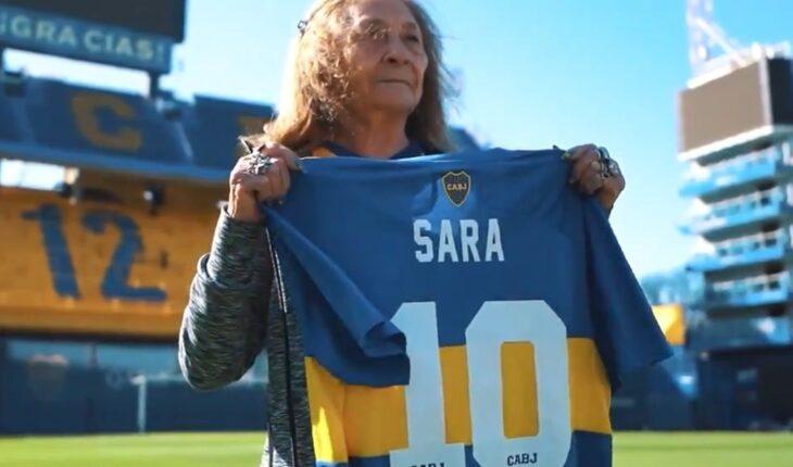 Sara, the Boca fan who embraced Riquelme in Santiago, visited La Bombonera