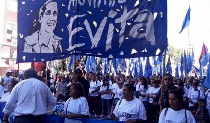 The Evita Movement announced that it will march to Plaza de Mayo in support of Alberto Fernández