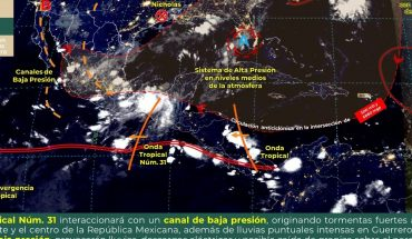 tropical wave No. 31 will cause rains