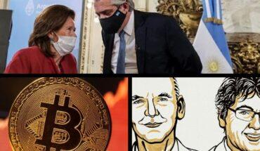 Argentina es el país con más semanas consecutivas con baja de casos; Bitcoin se dispara y llega a su valor máximo desde mayo; Sin acuerdo político, EE.UU. se encamina al 1° default de su historia; Benjamin List y David MacMillan se quedaron con el Premio Nobel de Química; y más...