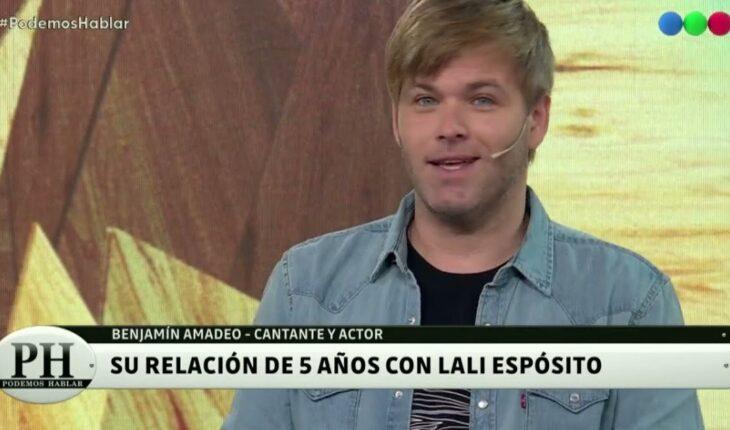 Benjamín Amadeo recordó su relación con Lali Espósito y la mediática separación
