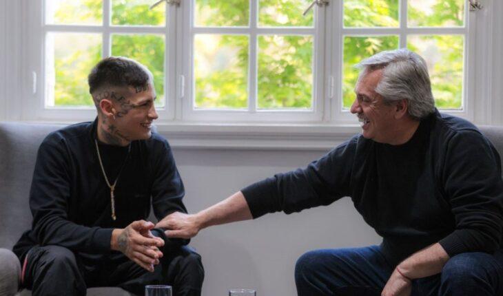 El encuentro entre L-Gante y Alberto Fernández en Olivos: Elogios mutuos y admiración