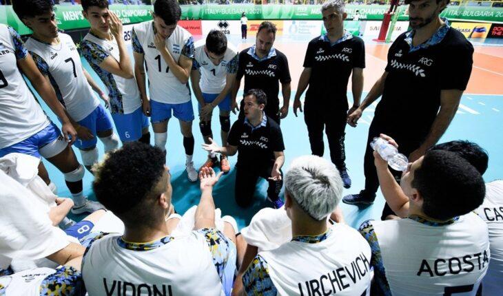 El seleccionado argentino Sub-21 de vóleibol terminó cuarto