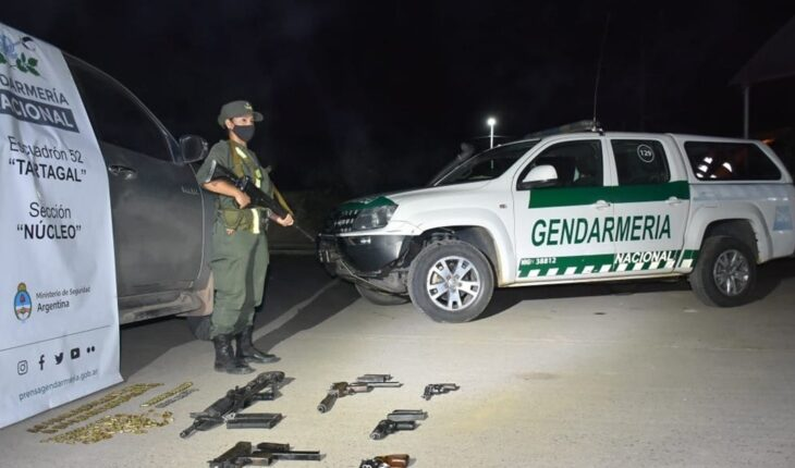 Salta: He was arrested at a police checkpoint and his weapons were seized