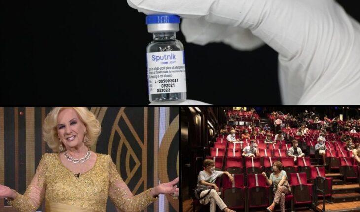 """Sería """"inminente"""" la aprobación de la Sputnik; nuevo parte médico de Mirtha Legrand; Pampita peregrinó a Luján y mucho más..."""