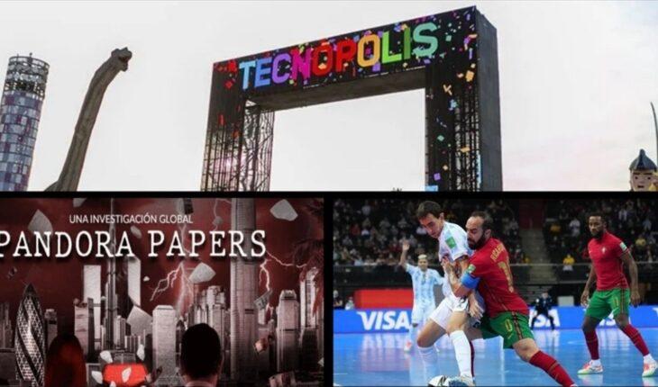 Tecnópolis: De qué se trata el nuevo espacio interactivo del Ministerio de Transporte; Argentina está tercero en la lista de beneficiarios de cuentas offshore; Futsal: Argentina cayó ante Portugal por 2 a 1 y mucho más...