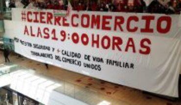 Trabajadores del comercio buscan respaldo de municipios para cerrar a las 19:00 horas